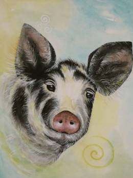 Madeleine Tuttle pig art