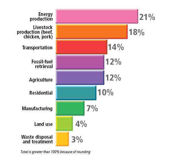 The Relationship of Meat Production and Consumption to Global Warming