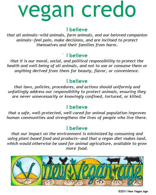 Lifestyle Articles: Vegan Credo: Vegan Lifestyle Articles From All-Creatures.org