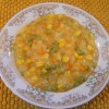 Autumn Chowder with Cabbage, Carrots, Corn, Peas and Potatoes