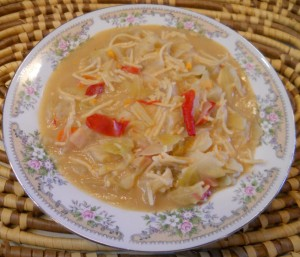 Cabbage, Potato, and Vegetable Soup (Chinese Style)