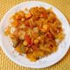 Cabbage, Carrot, Onion, Sweet Potato, Tomato, and Zucchini Curry