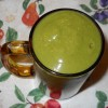 Green Smoothie with Banana, Collard Greens, and Nectarine