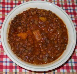 Lentil Sweet Potato Chili