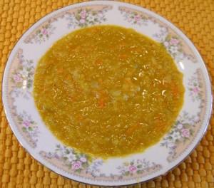 Green Split Pea Soup - Veg Curry