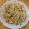 Cabbage Potato Chick Pea Uncheese Sauce