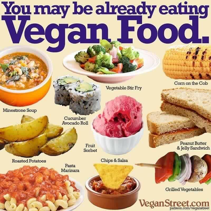 Vegans Eat Foods