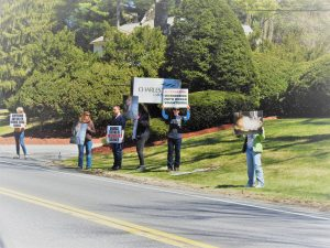 protesting animal testing