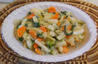 Bok Choy, Carrots, Celery, and Onions, with Sweet and Sour Sauce: An ...