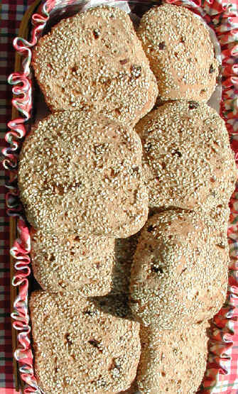 Bread - Orange Cardamom Raisin Rolls - Whole Grain with Sesame Seeds ...