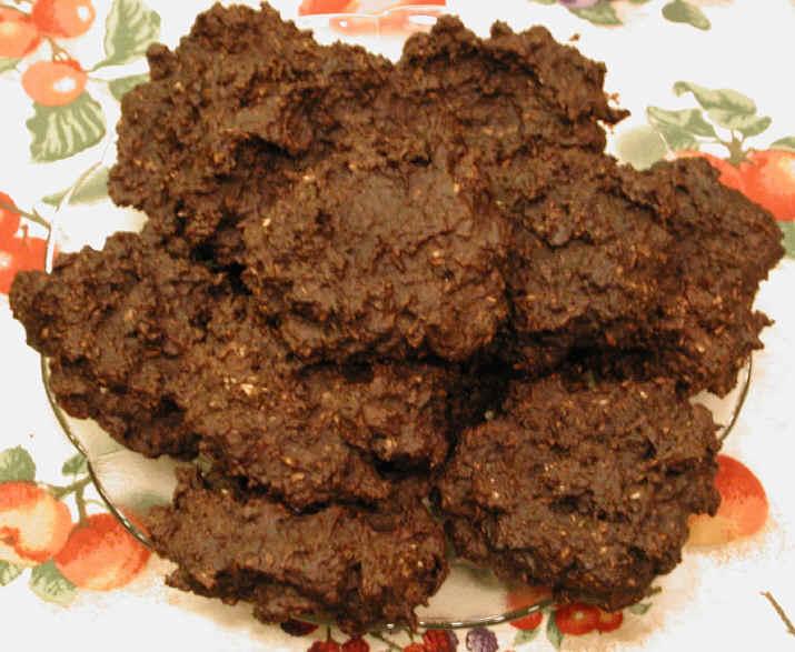 Cookies - Peanut Butter Carob Fudge Coconut Raisin Photo: Vegan Recipe
