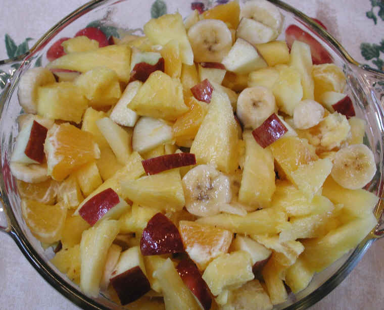 Return to Fruit Salad with Apples, Bananas, Oranges, and Pineapple ...