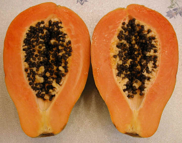 how to cut open a persimmon seed