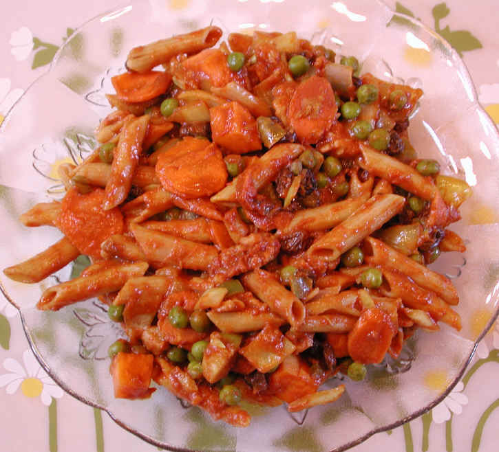 Pasta spaghetti and macaroni recipes curried sweet potatoes and carrots with penne an all creatures american international vegetarian vegan recipe cruelty free gourmet recipes lifestyle food appetizer forumfinder Image collections