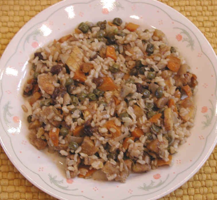 Plantain rice with peas raisins and spice an all creatures plantain rice with peas raisins and spice an all creatures american international vegetarian vegan recipe cruelty free gourmet recipes lifestyle forumfinder Image collections