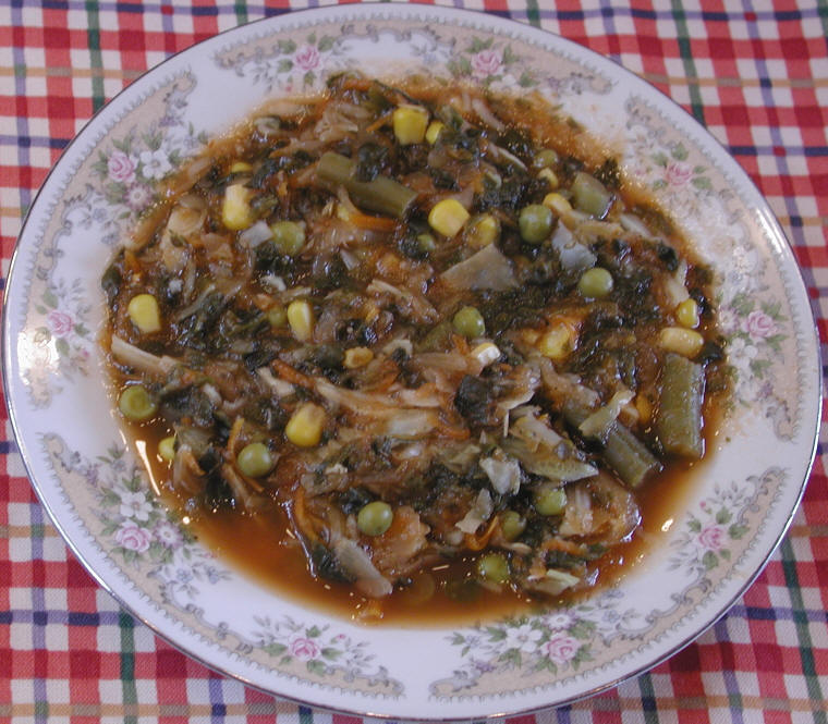 Cabbage Spinach Vegetable Soup: An All Creatures Vegetarian Vegan ...