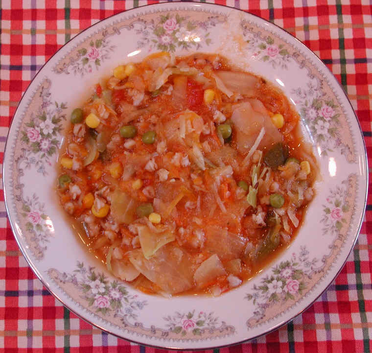 Cabbage Vegetable Barley Soup: An All Creatures American International ...