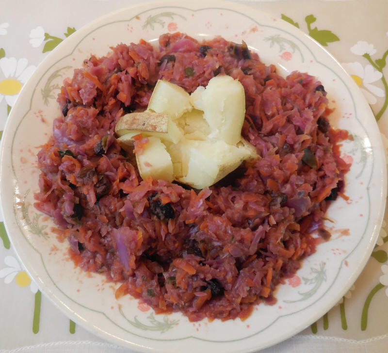 Sweet and Sour Red Cabbage Apples Raisins