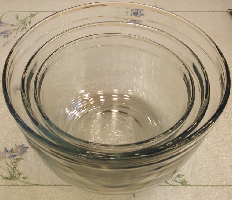 Bowls Glass Baking Mixing And Serving Food Preparation