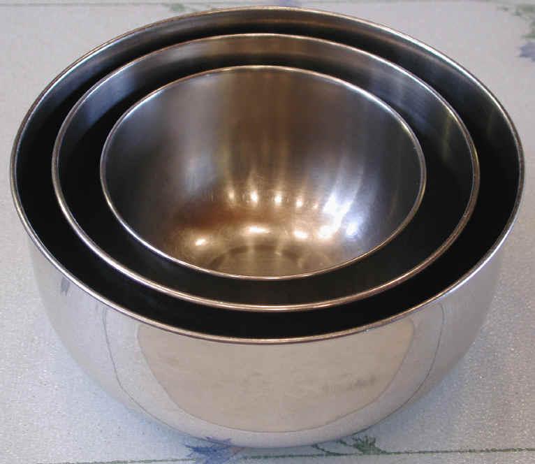 Bowls Stainless Steel Mixing Food Preparation Utensils