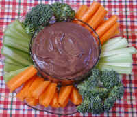 Veggies with Black Bean and Salsa Dip