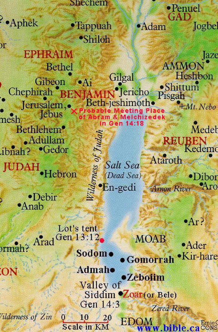 The Dead Sea Map The Dead Sea Area of Genesis Chapter 14: Bible Land Maps From all  The Dead Sea Map