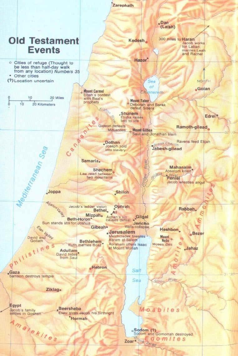 ancient hebrew maps